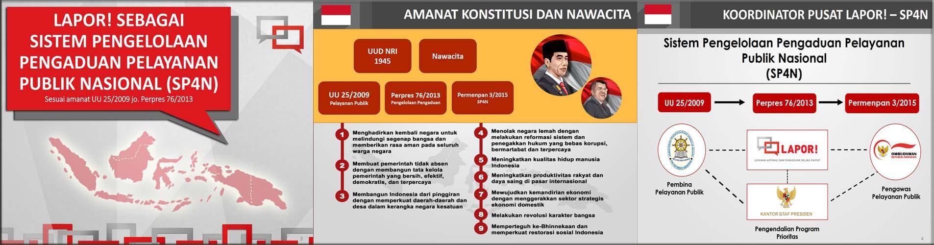 LAPOR - SP4N<BR>Amanat Konstitusi dan Nawacita