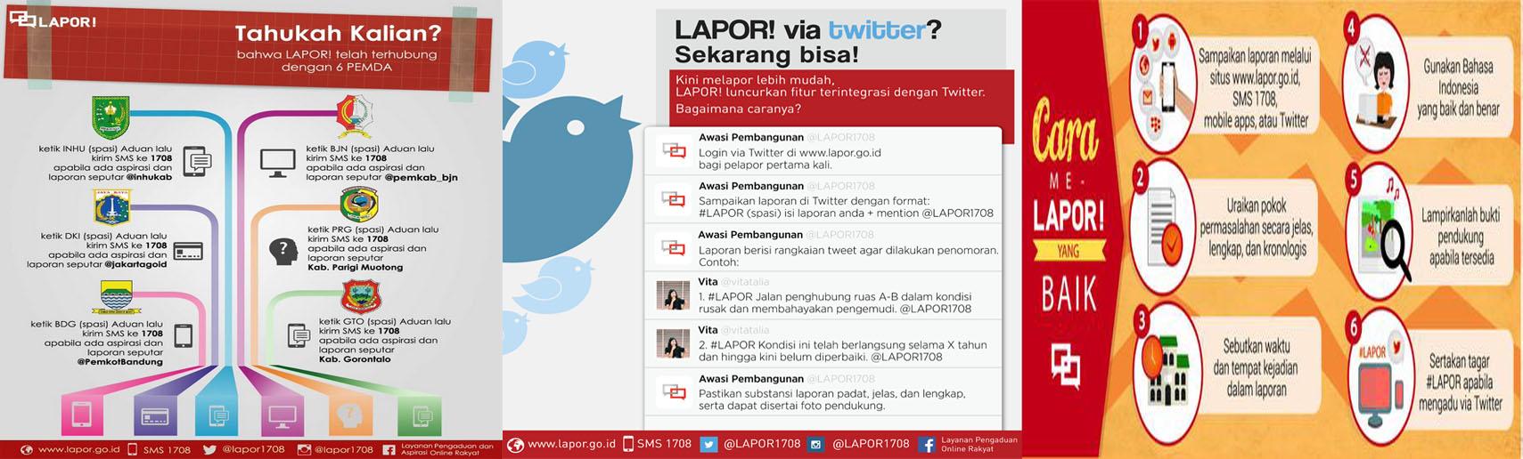 LAPOR via Twitter<BR>Cara Melapor yang Baik