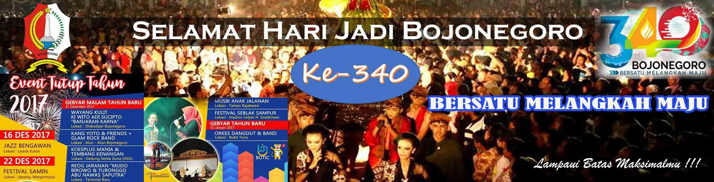 SELAMAT HARI JADI BOJONEGORO <BR>KE-340
